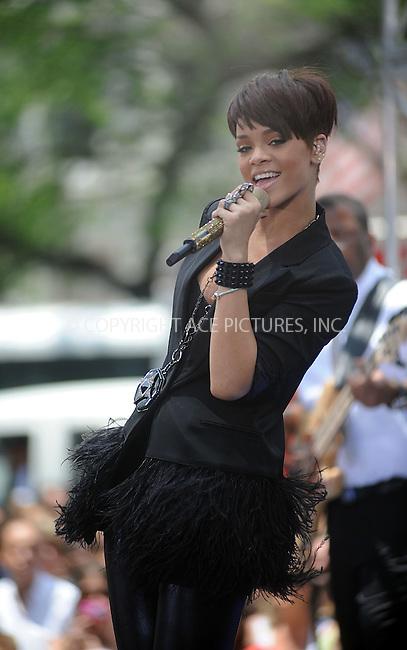 "WWW.ACEPIXS.COM . . . . . ....June 20 2008, New York City....Singer Rihanna performed on ABC's ""Good Morining America"" show in Bryant Park, June 20 2008, New York City.....Please byline: KRISTIN CALLAHAN - ACEPIXS.COM.. . . . . . ..Ace Pictures, Inc:  ..(646) 769 0430..e-mail: info@acepixs.com..web: http://www.acepixs.com"