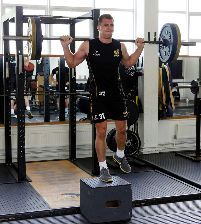 Photo: Richard Lane/Richard Lane Photography. London Wasps training. 12/07/2012. Wasps' Jack Wallace.