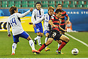 (L-R) Shu Kurata, Hiroki Fujiharu (Gamba), Lee Myung-Joo (Steelers),.MAY 2, 2012 - Football / Soccer :.AFC Champions League Group E match between Pohang Steelers 2-0 Gamba Osaka at Pohang Steel Yard in Pohang, South Korea. (Photo by Takamoto Tokuhara/AFLO)