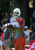 Jul 30, 2008; Flagstaff, AZ, USA; Arizona Cardinals wide receiver Larry Fitzgerald during training camp on the campus of Northern Arizona University. Mandatory Credit: Mark J. Rebilas-