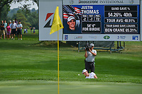 Justin Thomas (USA) hits from the trap on 14 during 2nd round of the World Golf Championships - Bridgestone Invitational, at the Firestone Country Club, Akron, Ohio. 8/3/2018.<br /> Picture: Golffile | Ken Murray<br /> <br /> <br /> All photo usage must carry mandatory copyright credit (© Golffile | Ken Murray)