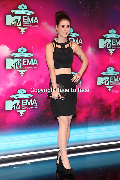 AMSTERDAM - Lena Meyer-Landrut at the MTV Europe Music Awards 2013 at the Ziggodome in Amsterdam.<br />