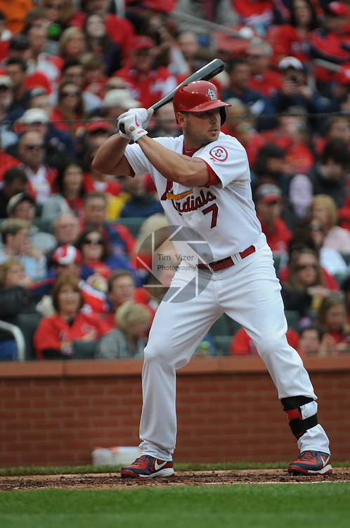 The Pittsburgh Pirates defeated the St. Louis Cardinals 9-0 on Sunday April 28, 2013 at Busch Stadium in downtown St. Louis, Missouri.