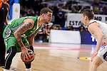 Real Madrid's Jaycee Carroll and Darussafaka Dogus's Scottie Wilbekin during Turkish Airlines Euroleague match between Real Madrid and Darussafaka Dogus at Wizink Center in Madrid, Spain. February 24, 2017. (ALTERPHOTOS/BorjaB.Hojas)