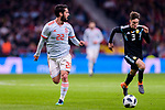 Isco Alarcon of Spain (L) in action during the International Friendly 2018 match between Spain and Argentina at Wanda Metropolitano Stadium on 27 March 2018 in Madrid, Spain. Photo by Diego Souto / Power Sport Images