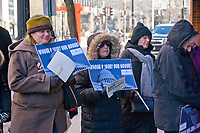 Indivisible Evanston Meets Outside Congresswoman Jan Schakowsky's Office 1-3-19