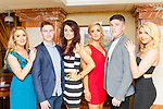 James O'Donoghue and Kerry minor winning captain Liam Kearney with contestants Leanne Pierce Killarney, Sinead Moriarty Lispole, Samantha Roche Beaufort and Nicole Sugrue Glenbeigh at the Miss Kerry selection in the Plaza Hotel Killarney on Saturday night