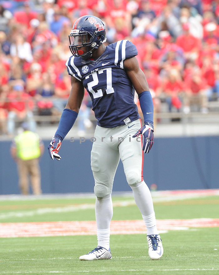 Ole Miss Rebels Marquis Haynes (27) during a game against the New Mexico State Aggies on October 10, 2015 at Vaught-Hemingway Stadium  in Oxford, MS. Ole Miss beat New Mexico State 52-3.