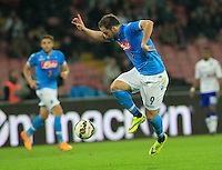 Gonzalo Higuain   during the Italian Serie A soccer match between   SSC Napoli and UC Sampdoria at San Paolo  Stadium in Naples ,April 26 , 2015