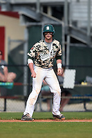 Slippery Rock Jake Nogalo (7) during a game against the Kentucky Wesleyan Panthers on March 9, 2015 at Jack Russell Stadium in Clearwater, Florida.  Kentucky Wesleyan defeated Slippery Rock 5-4.  (Mike Janes/Four Seam Images)
