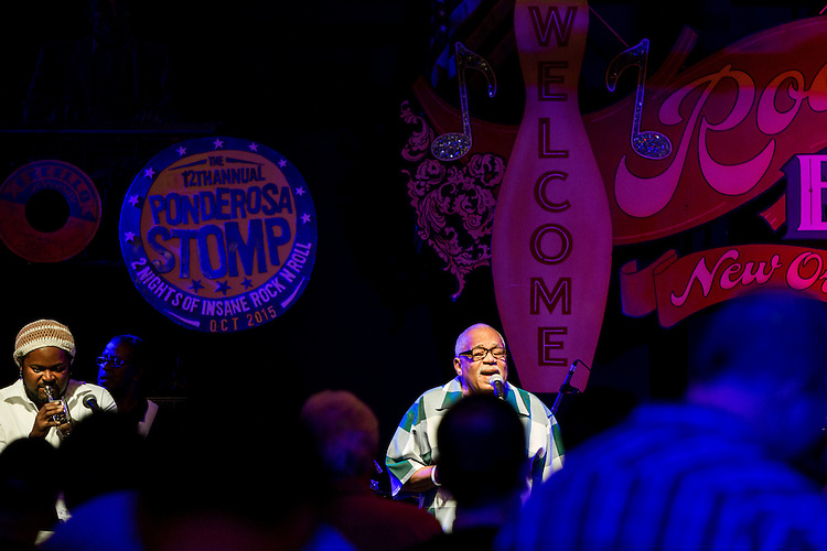 Jimmy Jules performs at the Ponderosa Stomp in New Orleans on October 3, 2015.