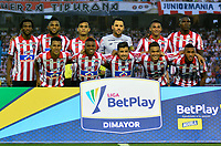 BARRANQUILLA-COLOMBIA, 16-02-2020: Jugadores de AtlŽtico Junior, posan para una foto, antes de partido entre AtlŽtico Junior y Once Caldas, de la fecha 5 por la Liga BetPlay DIMAYOR I 2020, jugado en el estadio Metropolitano Roberto MelŽndez de la ciudad de Barranquilla. / Players of Atletico Junior, pose for a photo, prior a match between Atletico Junior and Once Caldas of the 5th date for the BetPlay DIMAYOR I Leguaje 2020 played at the Metropolitano Roberto Melendez Stadium in Barranquilla city. / Photo: VizzorImage / Alfonso Cervantes / Cont.