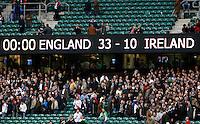 Photo: Richard Lane/Richard Lane Photography. .England v Ireland. RBS Six Nations. 15/03/2008. Final score.