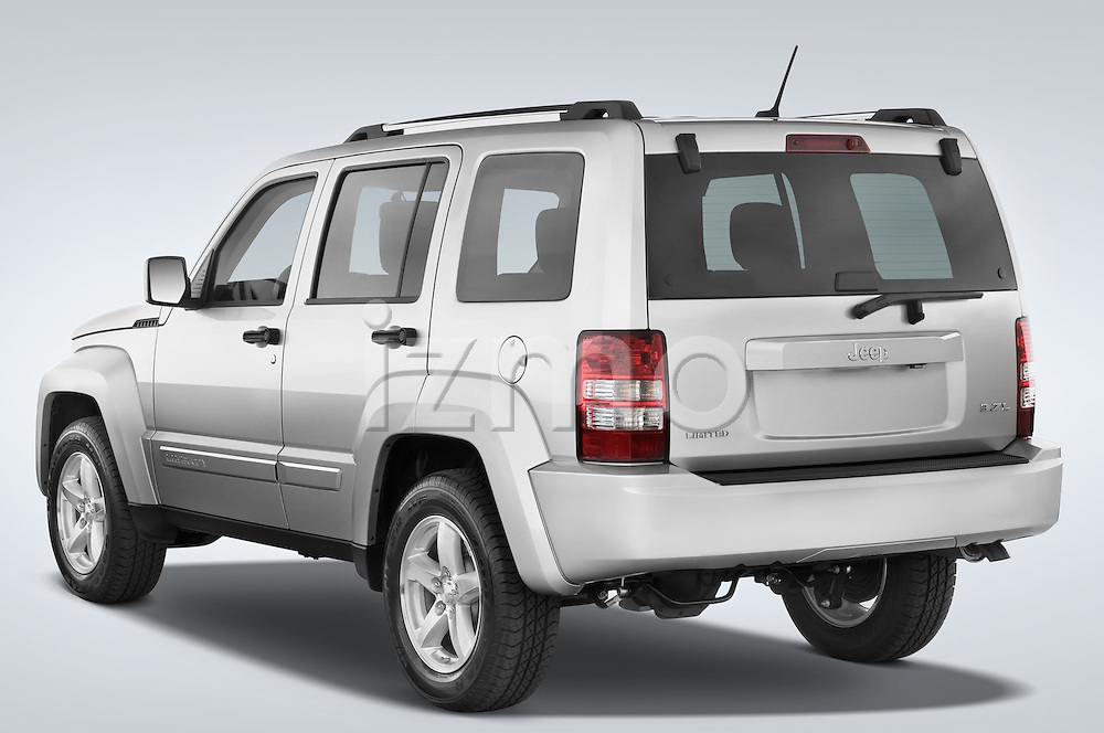 Rear three quarter driver side view of a 2008 Jeep Liberty Limited