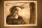 'The Sick Child 1' 1896, lithograph by Edvard Munch 1863-1944, Kode 3 art gallery Bergen, Norway