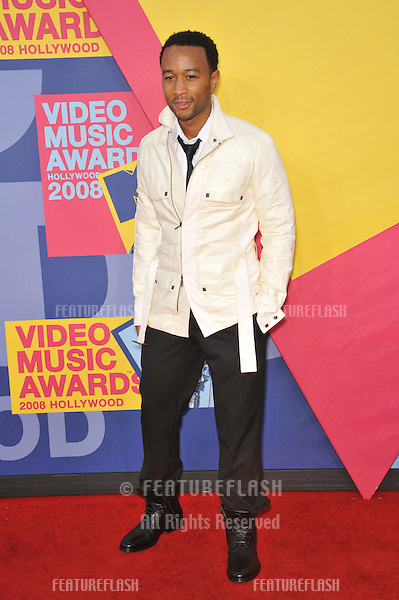 John Legend at the 2008 MTV Video Music Awards at Paramount Studios, Hollywood. .September 7, 2008  Los Angeles, CA..Picture: Paul Smith / Featureflash