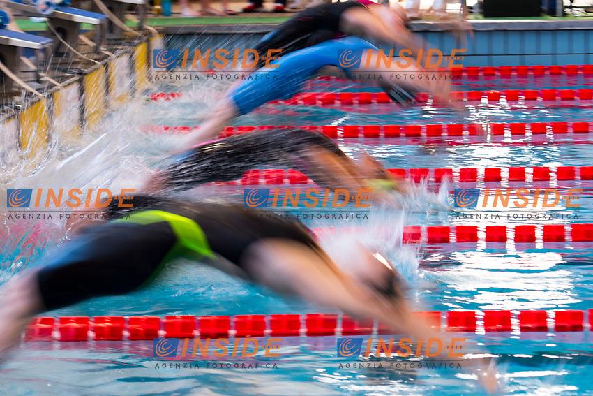 Partenza 50m Donne <br /> Milano 10-03-2017 Piscina D. Samuele <br /> Nuoto 7mo Trofeo citta' di Milano <br /> foto Andrea Staccioli / Insidefoto