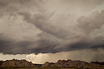 Summer storm, rain, clouds over the San Rafael Reef, Utah