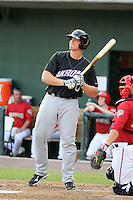 Nick Weglarz #40 of the Akron Aeros plays in a game against the Harrisburg Senators at Metro Bank Park on June 10, 2011 in Harrisburg, Pennsylvania.   ..Photo By Bill Mitchell/Four Seam Images