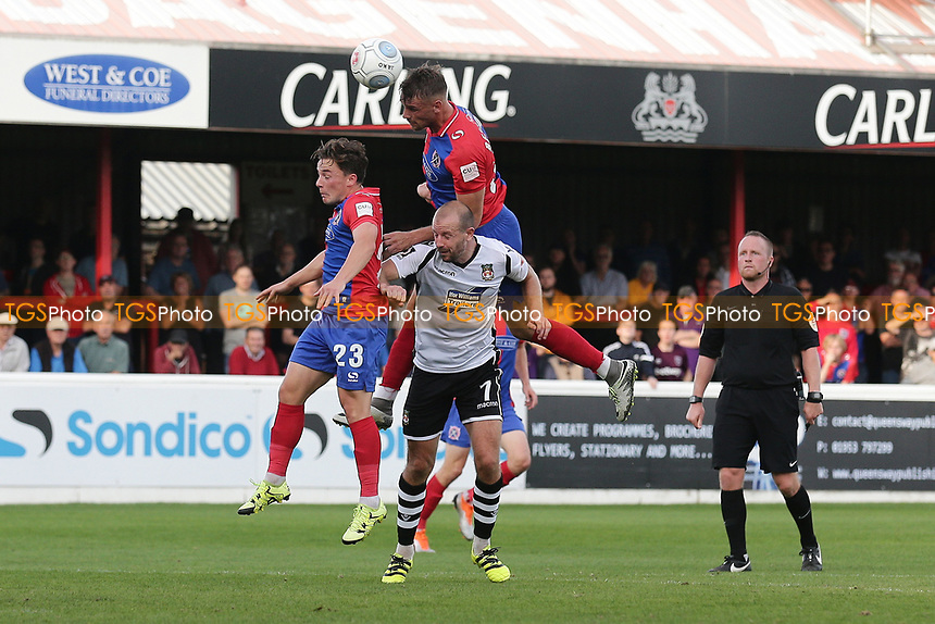 Liam Bellamy of Dagenham and Redbridge goes close during Dagenham & Redbridge vs Wrexham, Vanarama National League Football at the Chigwell Construction Stadium on 13th October 2018