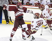 Casey Wellman (UMass - 7), Matt Lombardi (BC - 24) - The Boston College Eagles defeated the University of Massachusetts-Amherst Minutemen 6-5 on Friday, March 12, 2010, in the opening game of their Hockey East Quarterfinal matchup at Conte Forum in Chestnut Hill, Massachusetts.