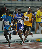 Asafa Powell ran 10.01sec. in the 2nd. round of the 100m on Saturday, August 25, 2007. Photo by Errol Anderson, The Sporting Image.