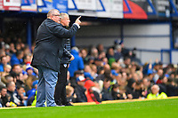 Gillingham Manager Steve Evans shouts instructions during Portsmouth vs Gillingham, Sky Bet EFL League 1 Football at Fratton Park on 12th October 2019