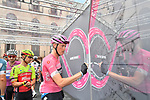 Race leader Rohan Dennis (AUS) BMC Racing Team signs on before the start of Stage 6 of the 2018 Giro d'Italia, running 169km from Caltanissetta to the Etna (Osservatorio Astrofisico) marks the first mountain finish of the race finishing on the Osservatorio Astrofisico climb for the first time in race's history, Sicily, Italy. 10th May 2018.<br /> Picture: LaPresse/Massimo Paolone | Cyclefile<br /> <br /> <br /> All photos usage must carry mandatory copyright credit (&copy; Cyclefile | LaPresse/Massimo Paolone)