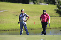 Arjun Atwal (IND) and Andrew Johnston (ENG) in action on the 6th during Round 4 of the Maybank Championship at the Saujana Golf and Country Club in Kuala Lumpur on Saturday 4th February 2018.<br /> Picture:  Thos Caffrey / www.golffile.ie<br /> <br /> All photo usage must carry mandatory copyright credit (&copy; Golffile | Thos Caffrey)