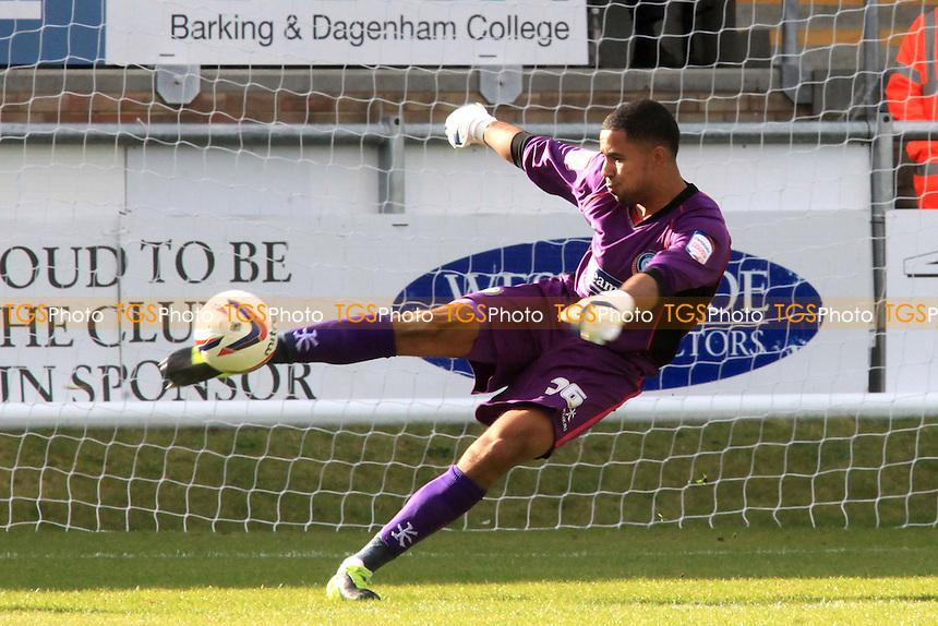 Wycombe's goalkeeper, Jorden Archer, currently on loan from Tottenham - Dagenham & Redbridge vs Wycombe Wanderers - NPower League Two Football at the London Borough of Barking & Dagenham Stadium - 29/09/12 - MANDATORY CREDIT: Paul Dennis/TGSPHOTO - Self billing applies where appropriate - 0845 094 6026 - contact@tgsphoto.co.uk - NO UNPAID USE.