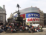 A51PCD Piccadilly Circus Eros statue London England