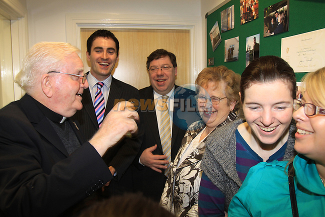 Taoiseach Brian Cowen T.D. opening Senator James Carroll new offices in Dyer Street Drogheda..<br /> Picture Fran Caffrey/Newsfile.ie