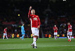 Jesse Lingard of Manchester United celebrates after scoring his sides fourth goal during the UEFA Europa League match at Old Trafford, Manchester. Picture date: November 24th 2016. Pic Matt McNulty/Sportimage