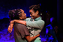 The Bush Theatre & Birmingham Repertory Theatre present the debut play by Temi Wilkey, at the Bush Theatre. Directed by Daniel Bailey, with lighting design by Jose Tevar, set & costume design by Natasha Jenkins, and movement direction by Gabrielle Nimmo. Picture shows: Cherrelle Skeete (as Tara), Ibinabo Jack (as Leah).