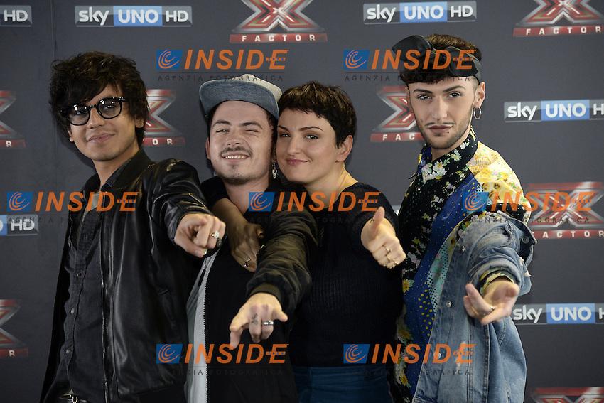 Db Milano 26/10/2016 - photocall trasmissione Tv 'X-Factor' / foto Daniele Buffa/Image/Insidefoto <br /> nella foto: Arisa-Diego Conti-Lorenzo Lumia Loomy-Marco Ferreri Fem