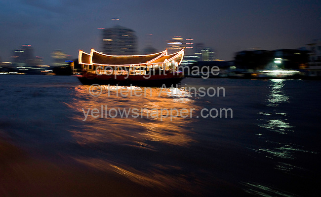 Ferry Boat on the River Mae Nam Chao Phraya, Bangkok, Thailand..Copyright: Helen Atkinson 2008 +447976265253