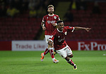Bristol City's Niclas Eliasson celebrates scoring his sides third goal during the Carabao cup match at Vicarage Road Stadium, Watford. Picture date 22nd August 2017. Picture credit should read: David Klein/Sportimage
