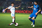 Fuenlabrada Hugo Fraile and Real Madrid Achraf Hakimi during Copa del Rey match between Fuenlabrada and Real Madrid at Fernando Torres Stadium in Madrid, Spain. October 26, 2017. (ALTERPHOTOS/Borja B.Hojas)