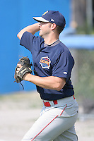 July 25th, 2007:  Dillon Gee of the Brooklyn Cyclones, Short-Season Class-A affiliate of the New York Mets a Dwyer Stadium in Batavia, NY.  Photo by:  Mike Janes/Four Seam Images