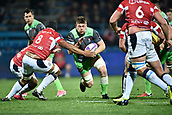 January 12th 2018, Stade Armandie , Agen, France;  European Rugby Challenge Cup, SU Agen Lot-et-Garrone;  Freddie Clarke (glo) makes a run into contact