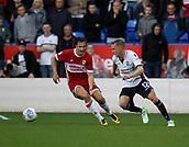 9th September 2017, Macron Stadium, Bolton, England; EFL Championship football, Bolton Wanderers versus Middlesbrough; Craig Noone making his debut for Bolton goes past Stewart Downing of Middlesbrough