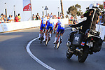 Groupama-FDJ in action during Stage 1 of La Vuelta 2019, a team time trial running 13.4km from Salinas de Torrevieja to Torrevieja, Spain. 24th August 2019.<br /> Picture: Eoin Clarke | Cyclefile<br /> <br /> All photos usage must carry mandatory copyright credit (© Cyclefile | Eoin Clarke)