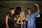 General Hospital Lindsey Morgan, Kristen Alderson and Erik Valdez sing (and WELL) at SoapFest's Celebrity Weekend - Celebrity Karaoke Bar Bash - autographs, photos, live auction raising money for kids on November 10, 2012 at Bistro Soleil at Old Historic Marco  Island, Florida. (Photo by Sue Coflin/Max Photos)