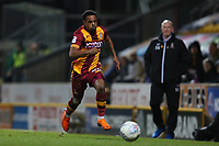 Tyrell Robinson of Bradford City during the Sky Bet League 1 match between Bradford City and Wigan Athletic at the Northern Commercial Stadium, Bradford, England on 14 March 2018. Photo by Thomas Gadd.