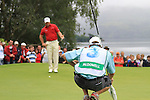 Graeme McDowell lines up his putt on the 2nd green during the Final Day of the 3 Irish Open at the Killarney Golf & Fishing Club, 1st August 2010..(Picture Eoin Clarke/www.golffile.ie)