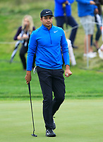 Julian Suri (USA) on the 5th green during Round 3 of the D+D Real Czech Masters at the Albatross Golf Resort, Prague, Czech Rep. 02/09/2017<br /> Picture: Golffile | Thos Caffrey<br /> <br /> <br /> All photo usage must carry mandatory copyright credit     (&copy; Golffile | Thos Caffrey)
