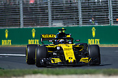 23rd March 2018, Melbourne Grand Prix Circuit, Melbourne, Australia; Melbourne Formula One Grand Prix, Friday free practice; The number 27 Renault Sport driven by Nico Hulkenberg