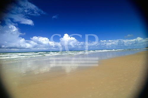 Bahia, Brazil. Sandy beach; Costa do Sauipe.