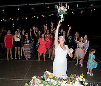 Lauren's tosses the bouquet.
