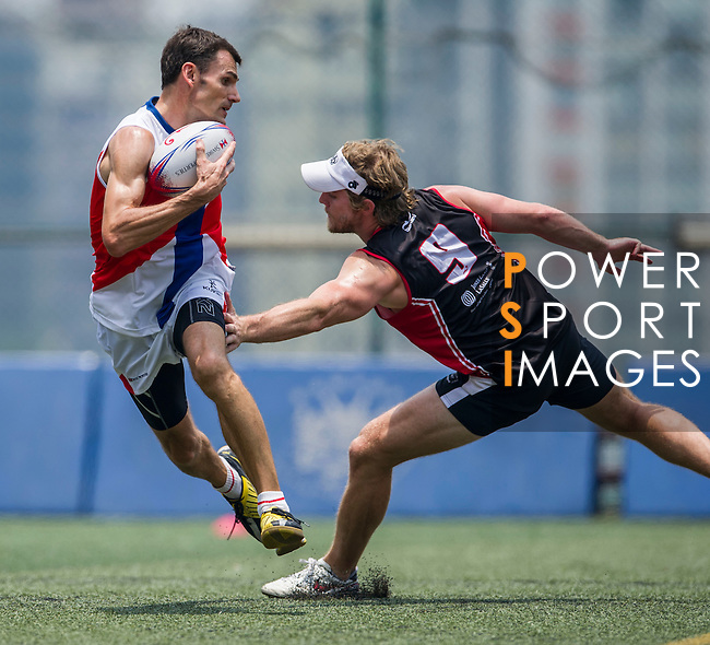 Swire Properties vs Jones Lang LaSalle during the Swire Properties Touch Tournament at Kowloon King's Park Sports Ground on 13 July 2013 in Hong Kong, China. Photo by Victor Fraile / The Power of Sport Images